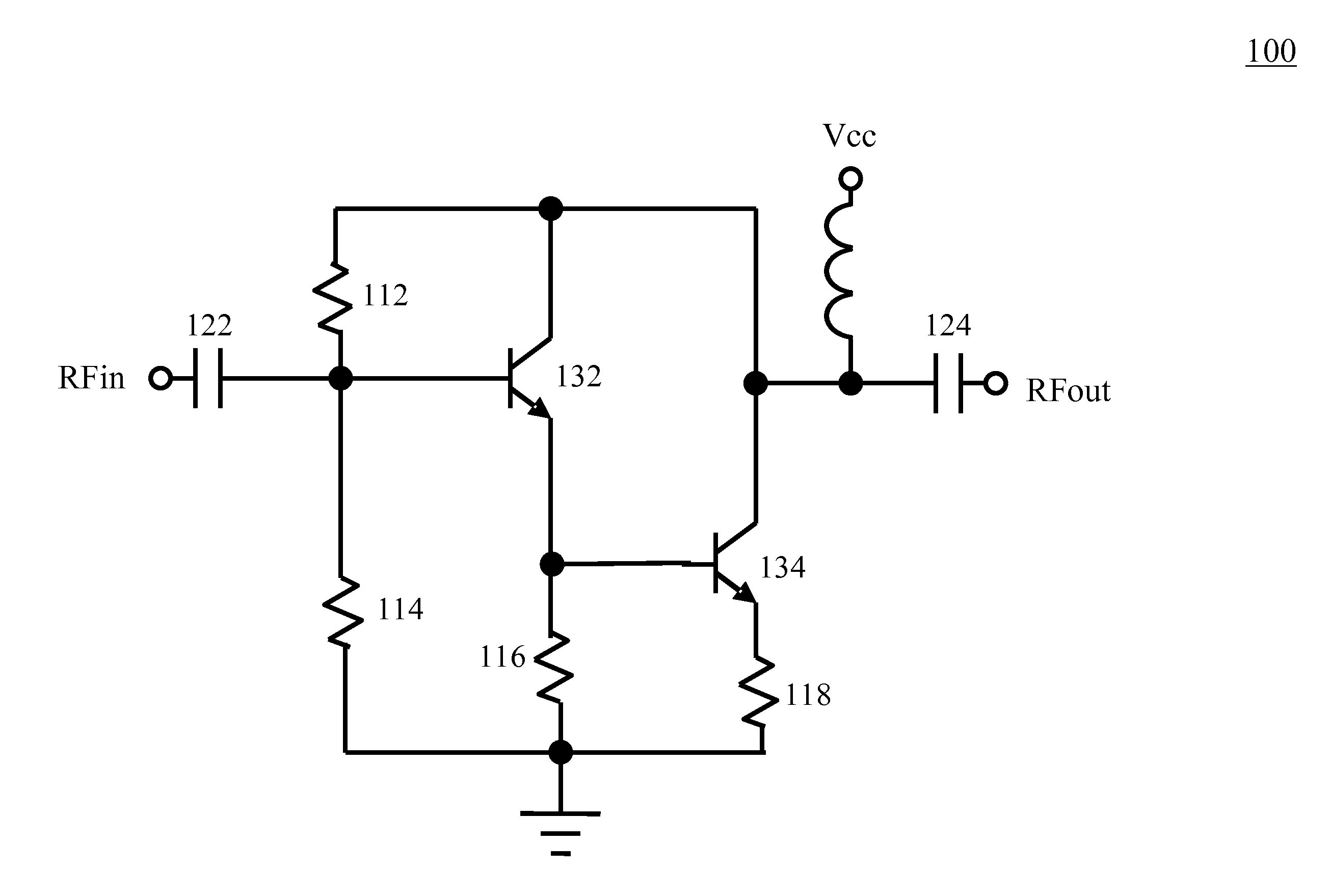 Analytics For Us Patent Application No 2010 0327978 Temperature Circuit Diagram Of A Darlington Pair Using Npn Transistors The And B Control Terminal 2 Second Smaller Connected In Series With Two