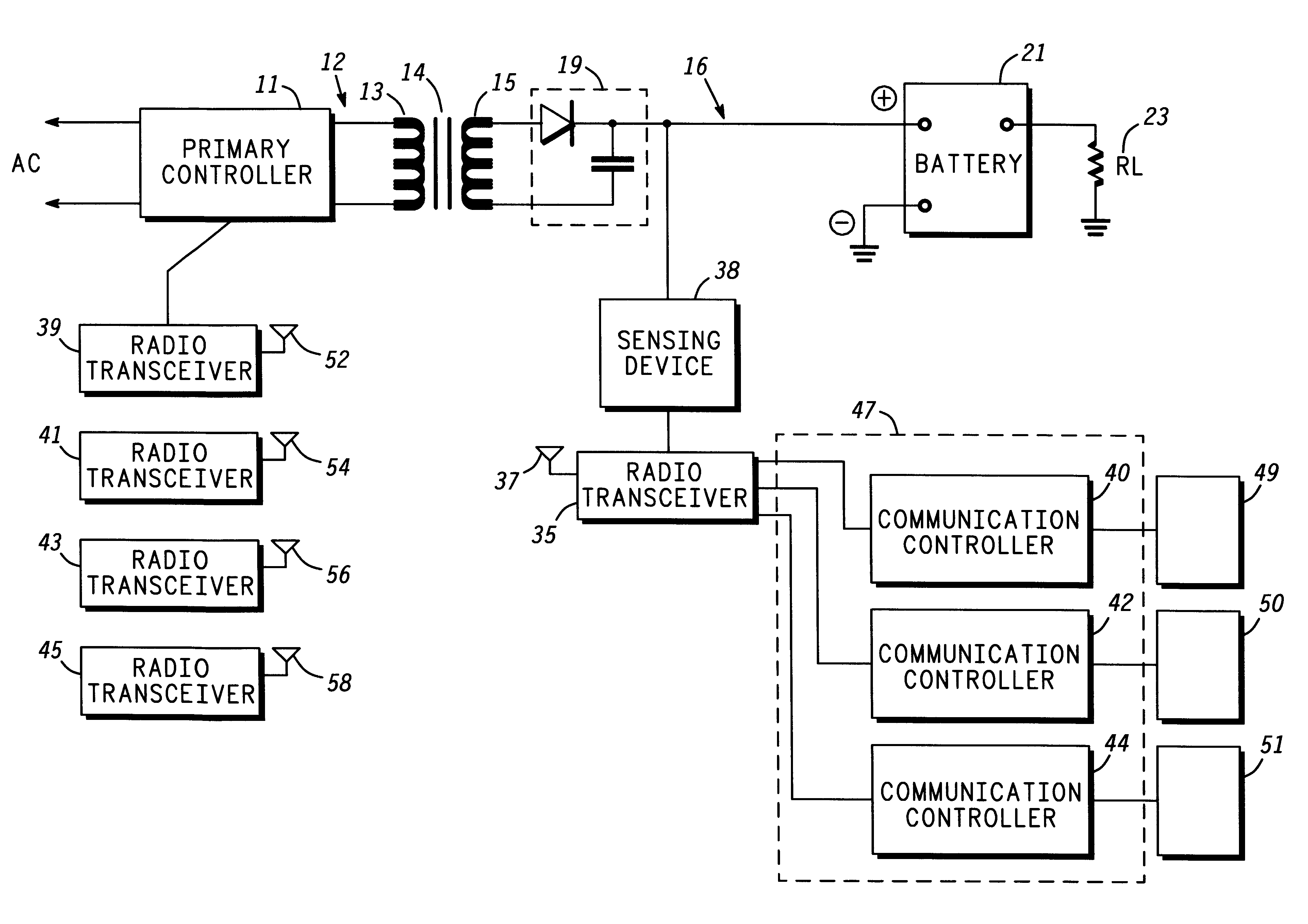 Analytics For Us Patent No 6184651 Contactless Battery Charger Circuit Diagram Communication Motorola 2000 Cell Phone The Controller 11 May Communicate Information Signals Via Inductive Coupling Or A Wireless Rf Link Communicating With Other Devices Such As