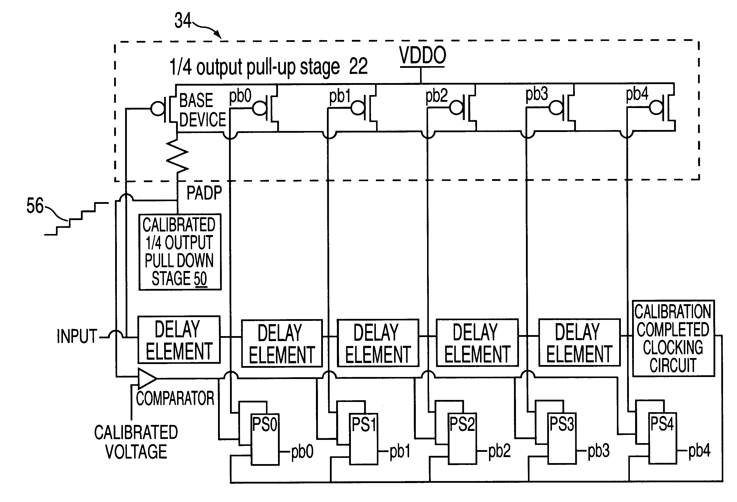 Analytics For Us Patent No 6636821 Output Driver Impedance Circuitdrivercircuitjpg The I O Circuit A To Determine Value Of Actual As Compared With Its Target And Determination