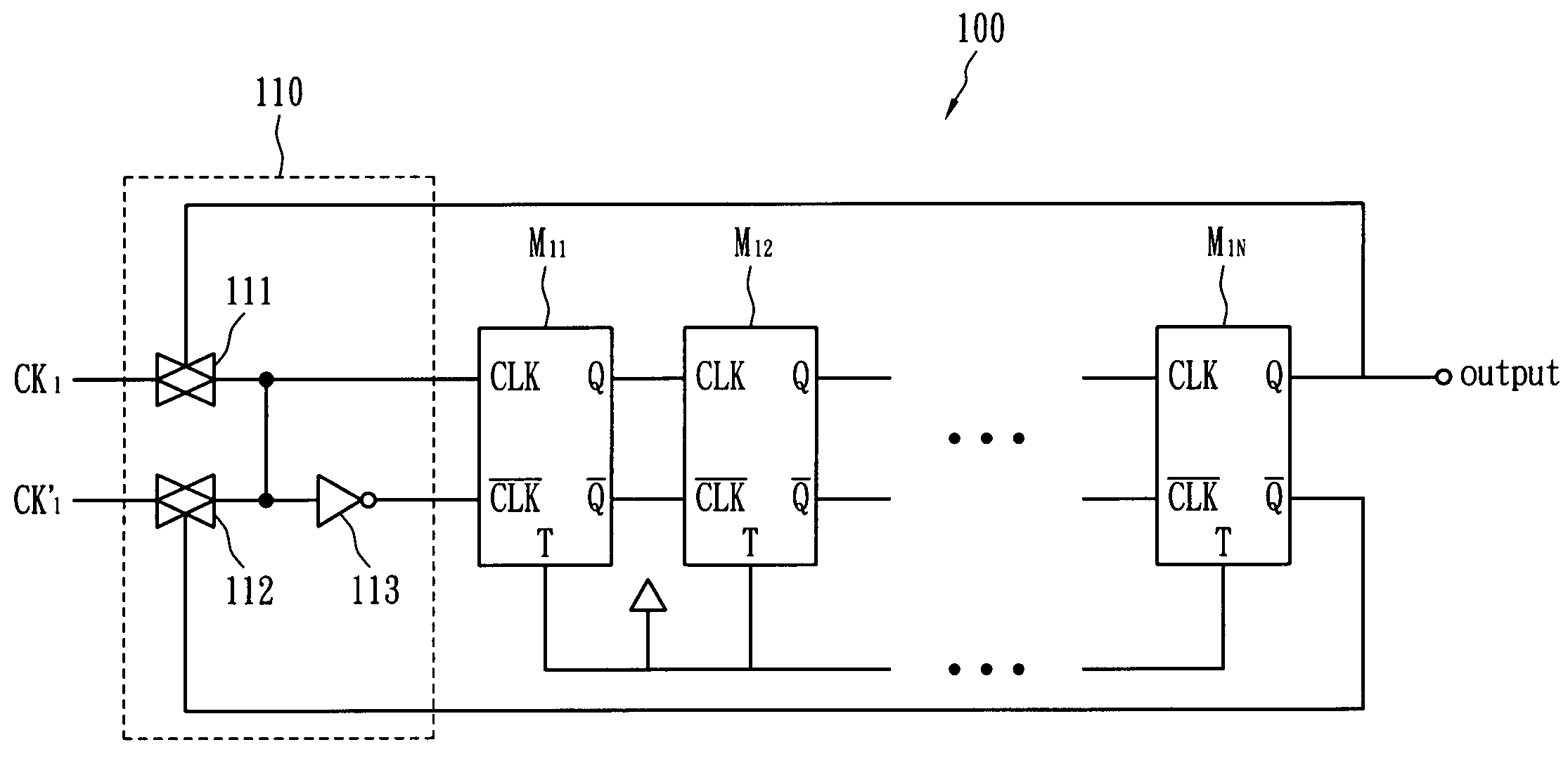 Analytics For Us Patent No 7680238 Frequency Divider Circuit Logic Diagram T Flip Flop Of The First And Input Inverter Second Transmission Gate Connects Inverted Signal Clock Output