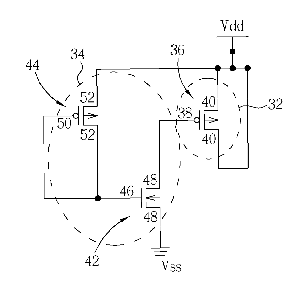 Analytics For Us Patent No 7705666 Filler Circuit Cell Mosfet Transistor The Tie Low Includes A Second Nmos And Pmos High Third
