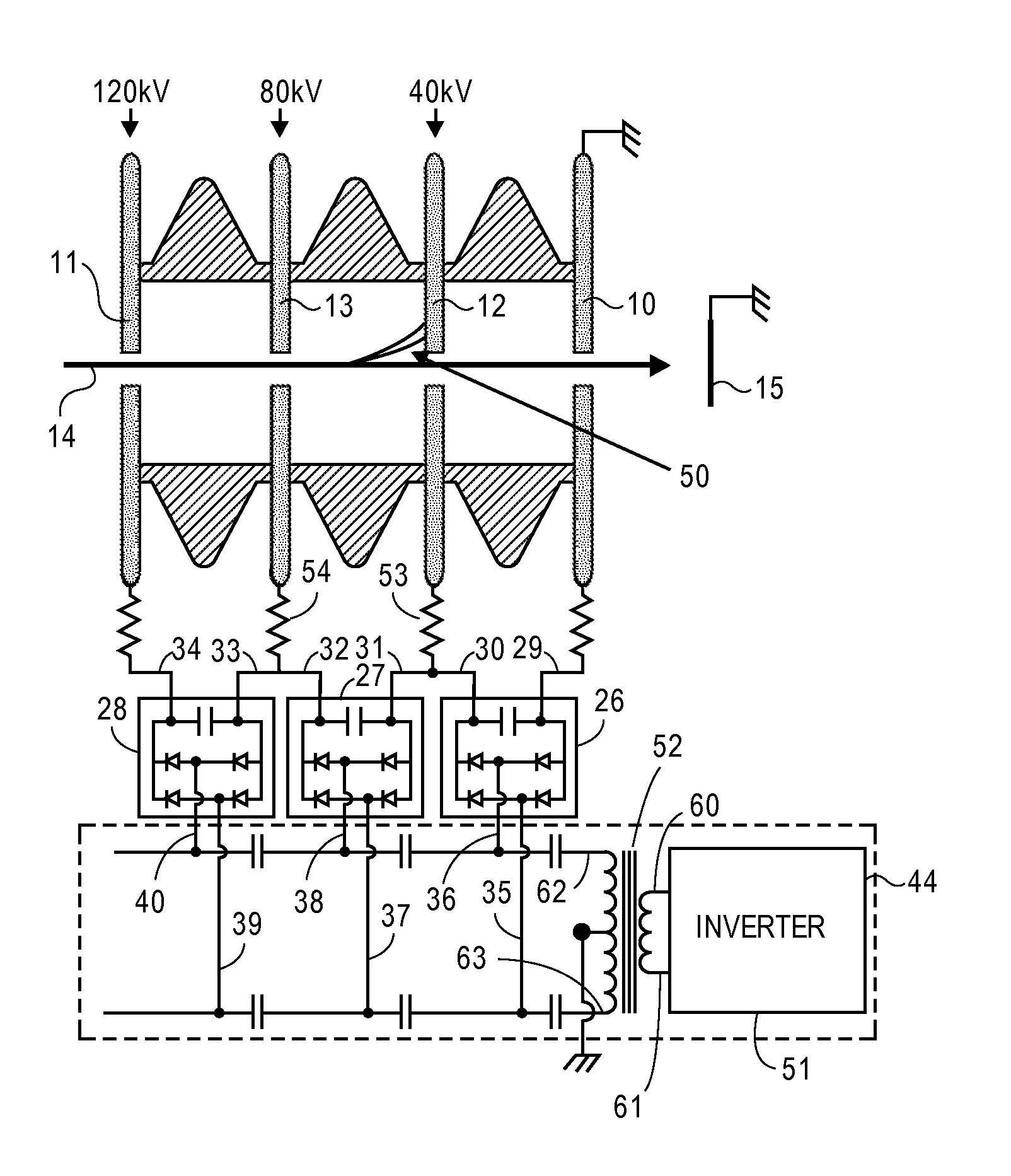 Analytics For Us Patent No 8723452 Dc Charged Particle Voltage Multipliers Walton Type Multiplier Circuit The Described Embodiment Enables An Ion Beam To Be Accelerated High Energies And Currents