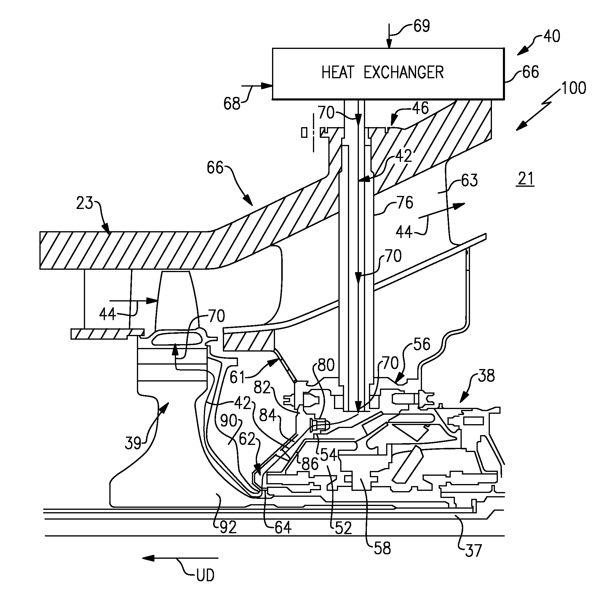 Analytics for US Patent No Gas turbine engine buffer