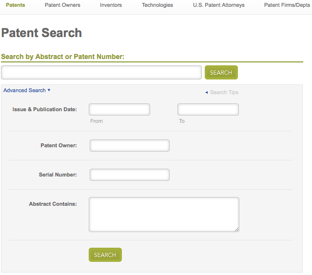 Patent Search Advanced